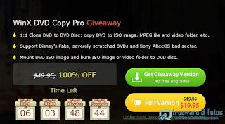 Giveaway : WinX DVD Copy Pro gratuit jusqu'au 31/1 !