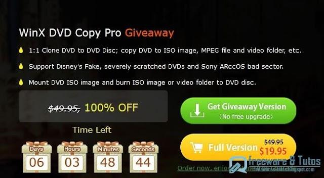 Offre promotionnelle : WinX DVD Copy Pro gratuit jusqu'au 31/1 !