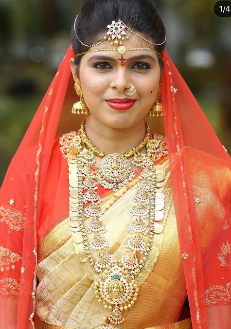Traditional Kasu Mala Lakshmi Haram