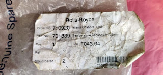 for sale: 601.00.55.090 part no 701839  TE-115 Rolls Royce  Resistance bulb (temperature sensor) Rolls Royce TE115 part no 701839 L= 125mm Bergen EMAIL: idealdieselsn@hotmail.com