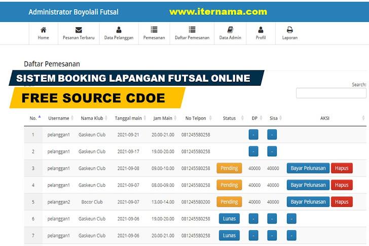 Sistem Informasi Booking Lapangan Futsal Online
