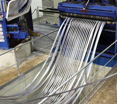 Foso slitter corte bobinas inox