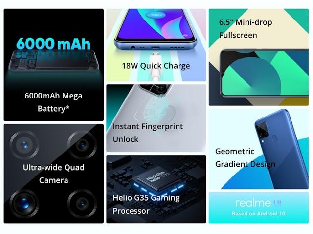 Realme C15, HP Baterai Jumbo dengan Fitur Segudang