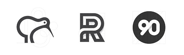 contoh logo unik keren dan juga simpel