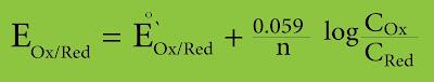 معادلة نرنست بدلالة التركيز