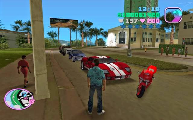 canh cuop xe trong game Vice City