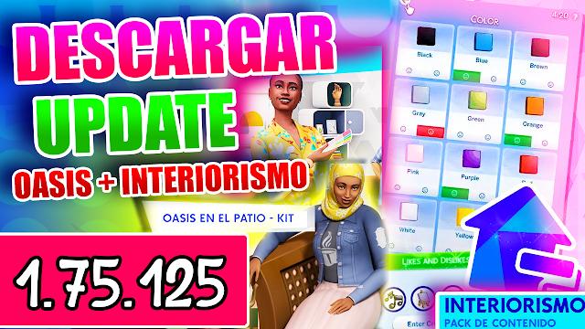 LOS SIMS 4 OASIS EN EL PATIO UPDATE 1.75.125