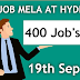 Job mela at Hyderabad 400 Vacancies in various private sector companies