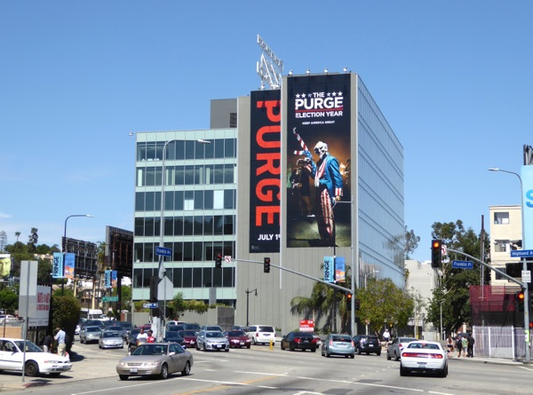 Purge Election Year giant billboard Hollywood