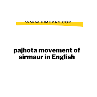 pajhota movement of sirmaur in English