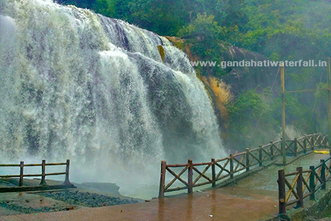 Gandahati waterfall tourist guide 2019