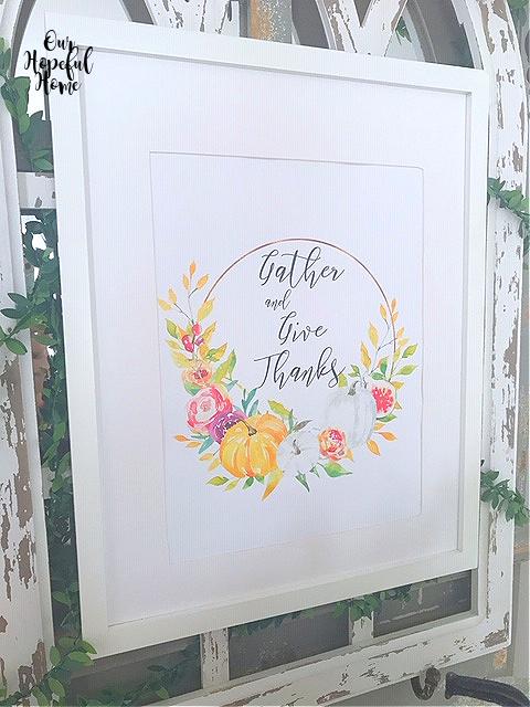 white frame printable