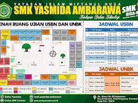 Desain Banner Denah Ujian dan Jadwal Ujian SMK Yasmida Ambarawa