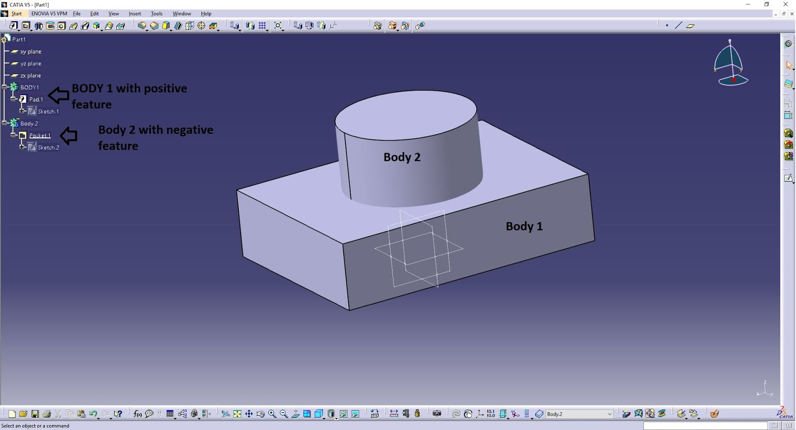Catia Software Design Design Tech Academy Difference Between Assemble And Add Boolean