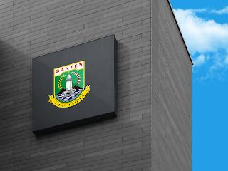 lambang logo provinsi banten di dinding - kanalmu