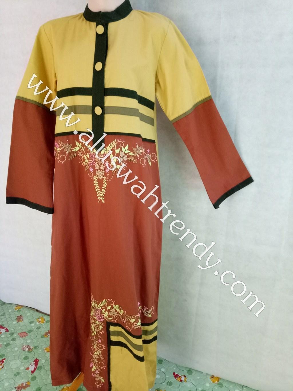 Gamis Muslimah Motif Bunga 026