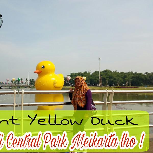 Giant Yellow Duck Hadir di Central Park Meikarta