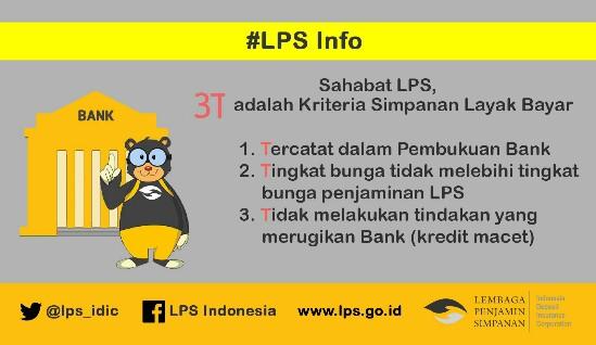 Syarat tabungan agar dijamin oleh LPS