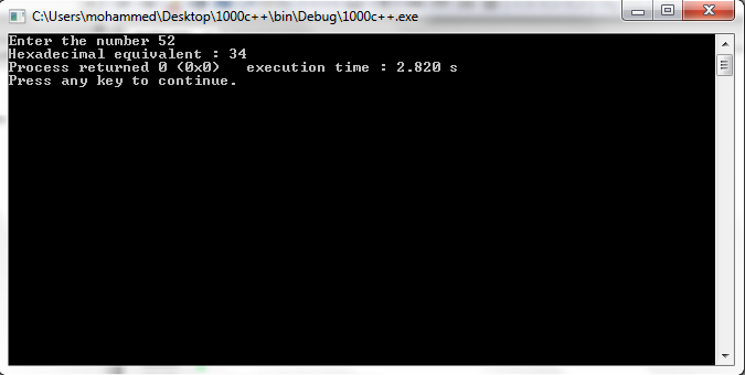 Programmers Area: C++ program to convert decimal to hexadecimal