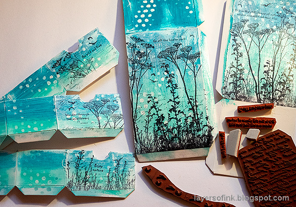 Layers of ink - DIY Chest of Drawers Tutorial by Anna-Karin Evaldsson. Stamp with Darkroom Door stamps.