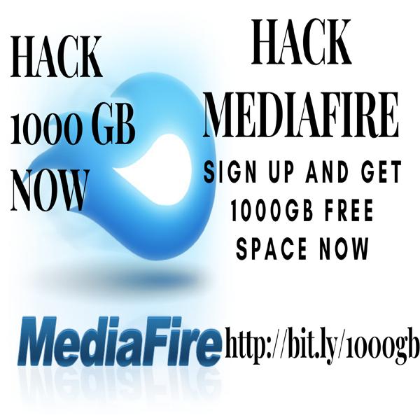 Mediafire Hack ( Get 1000 GB Free Space )