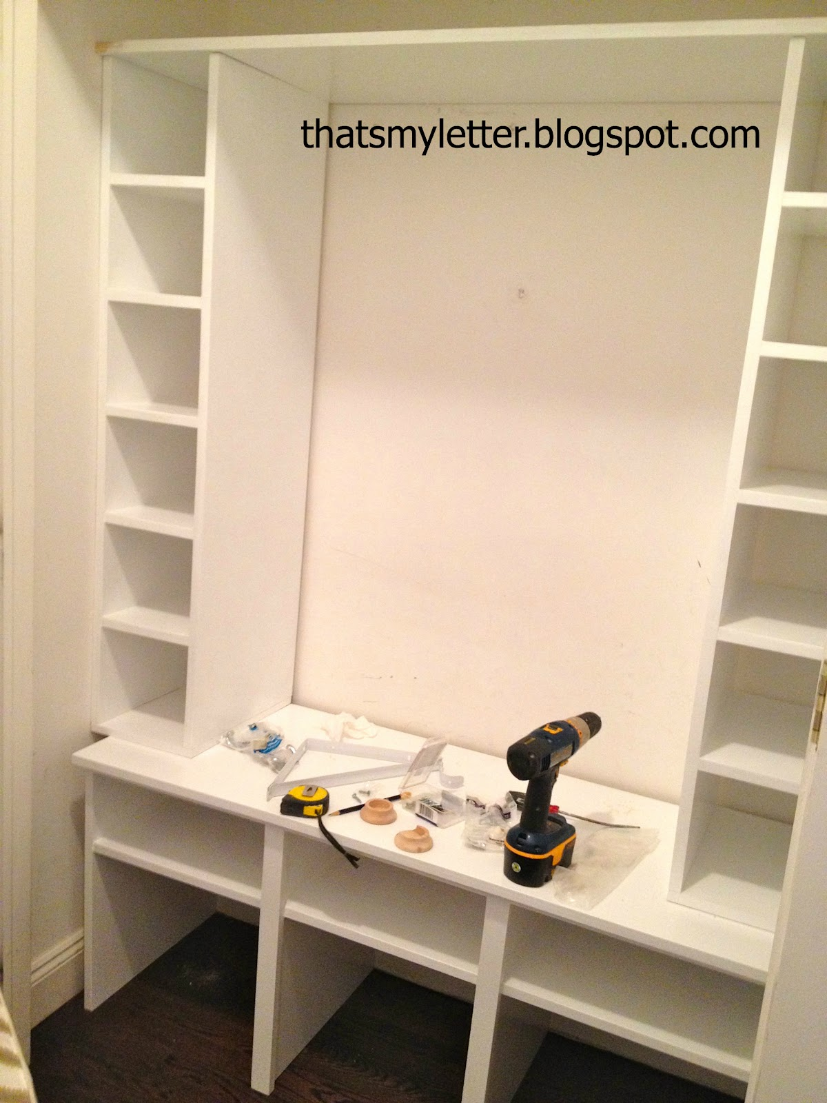 That S My Letter Diy Mudroom Closet Cubbies Amp Bench