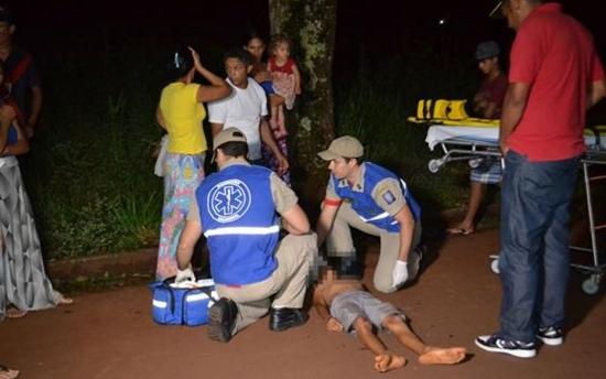Campo Mourão: Criança é atropelada. No local, profissionais da imprensa são chamados de abutres!