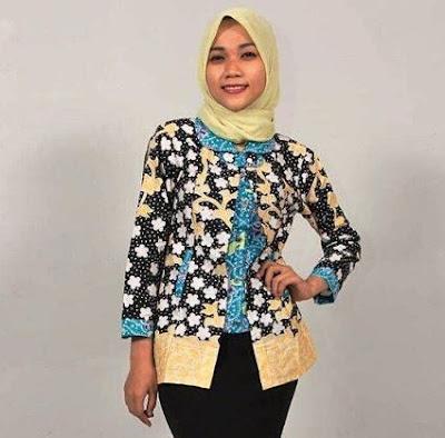 baju batik muslim modis