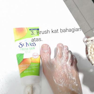 Tips kecantikkan,tips penjagaan kaki,tips penjagaan tumit,skrub kaki,tips tumit kaki tak merekah,scrub st ives,tips penjagaan kaki,