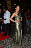 Rakul Preet Singh in Shining Glittering Golden Half Shoulder Gown at 64th Jio Filmfare Awards South ~  Exclusive 009.JPG