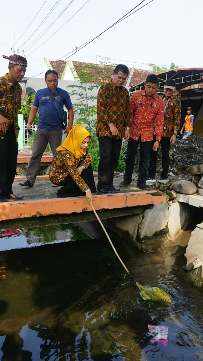 Walikota Mojokerto Sidak Kondisi Proyek Saluran Air  Pasca Pengerjaan