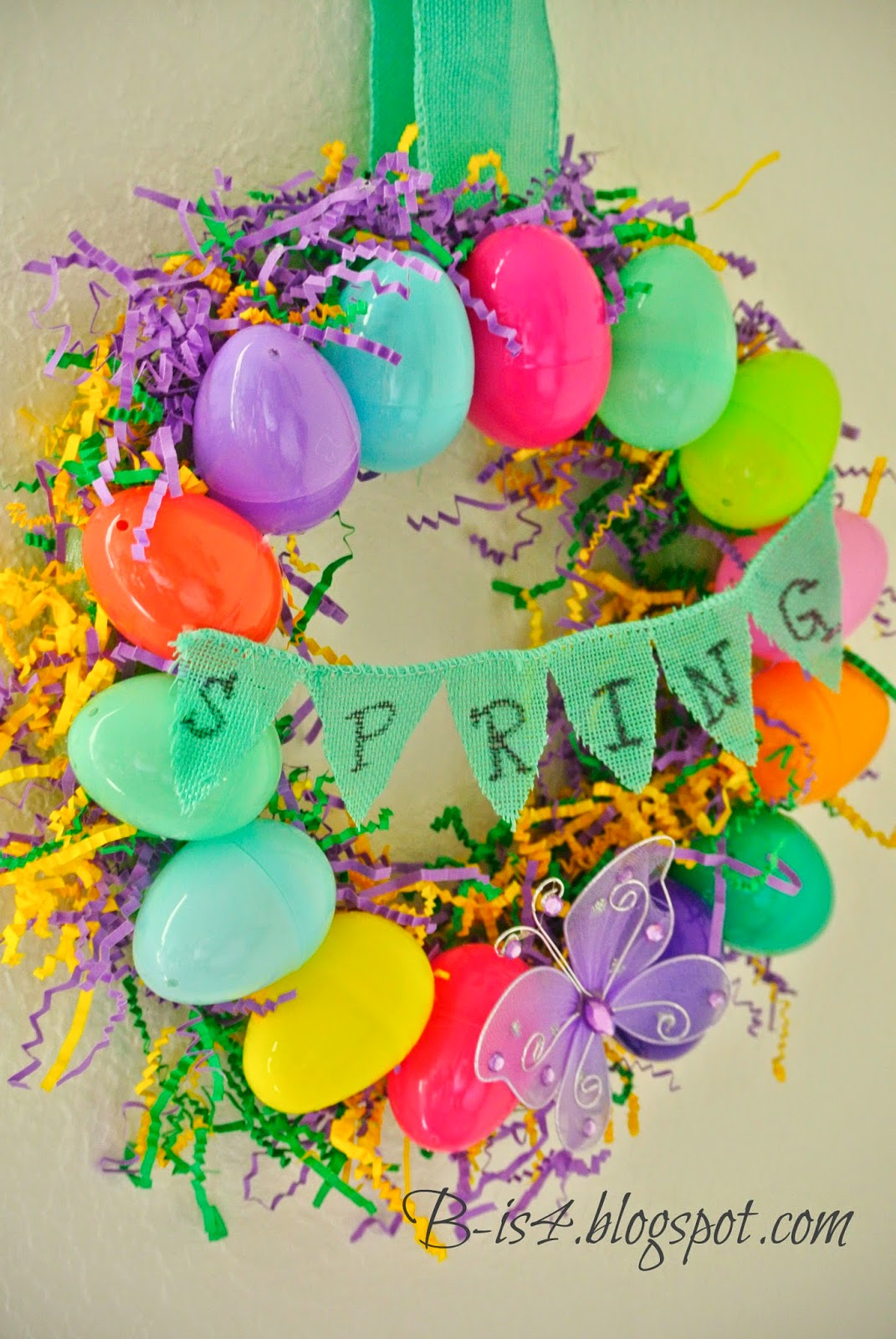 B is 4 diy easter egg spring wreath for Diy easter decorations for the home
