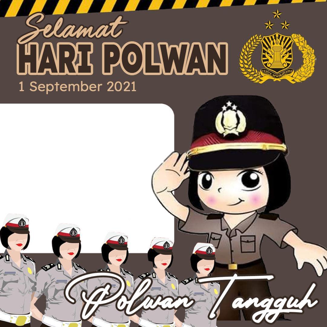 Frame Bingkai Twibbon Hari Polwan (Polisi Wanita) ke-73, 1 September 2021