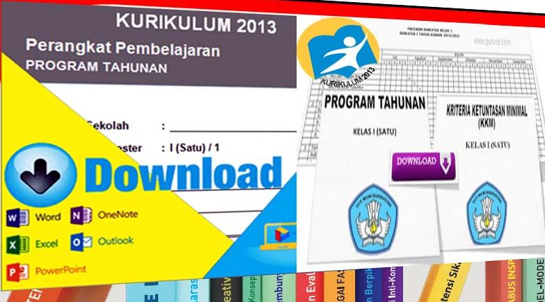 Download Prota dan Promes Kelas 1 SD Kurikulum 2013 Revisi Tahun 2016