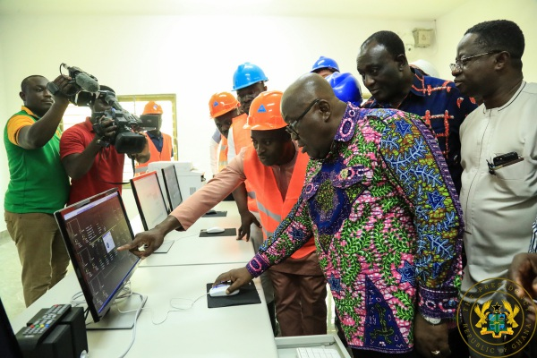 President Akufo-Addo Commissions 20MW Solar Plant, Inspects 1D1F Project In Gomoa West