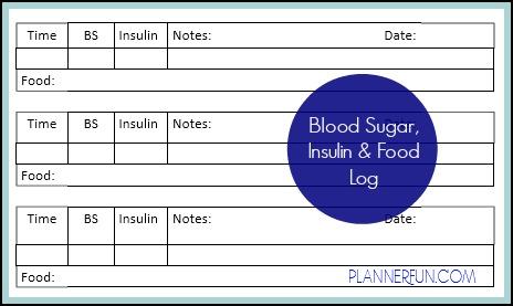 printable blood sugar log