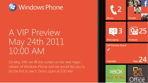 "Windows Phone ""Mango"" update to be previewed at VIP event"