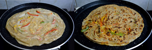 paratha pizza step by step