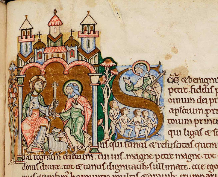 Santo Anselmo de Canterbury, Iluminura do século XII das meditações de Santo Anselmo