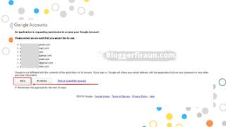 Pilih akun Google yang sesuai untuk sign up