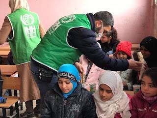 عمليات الدعشنة للاطفال من قبل المجلس المحلي للإحتلال التركي في رأس العين/ سري كانيه