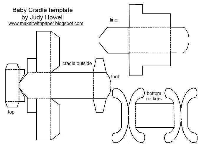 Make It With Paper Free Papercraft Baby Cradle
