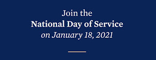 Participate in the National Day of Service - Jan 18, 2021