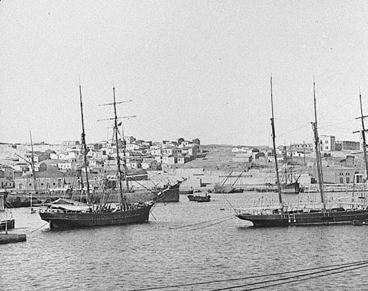 Άποψη Ακτής Ξαβερίου στα τέλη του 19ου αιώνα