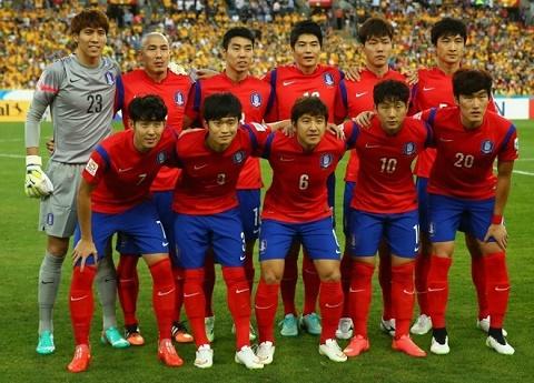 Đội hình ra sân của các cầu thủ Hàn Quốc