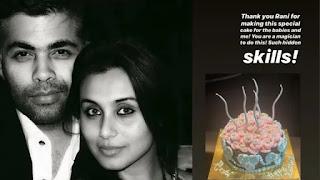 rani mukherji bake cake for karan johar's birthday
