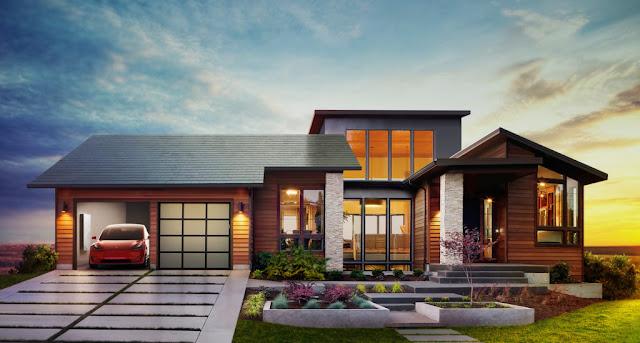 شركة تيسلا تكشف عن سقف منزلي يمتص الطاقة الشمسية ويخزنها