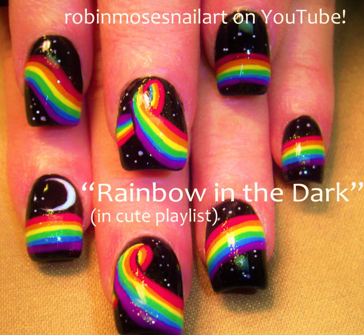 Nail Art By Robin Moses Water Drop Nails Nail Art Black Matte
