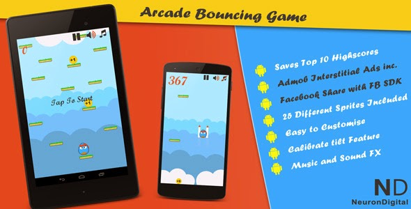 Free android sources codes: Jumper - An Arcade Bouncing Game
