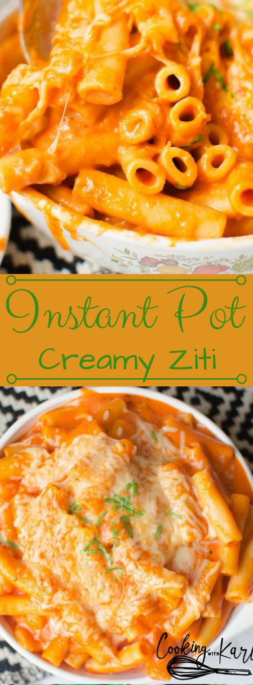 Dump and Start Instant Pot Creamy Ziti #dinner #instant #creamy #healthylunch #easy
